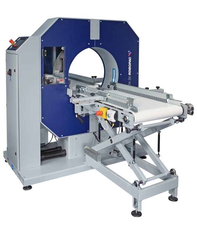 Compacta SPG horizontal semi-automatic stretch wrapper