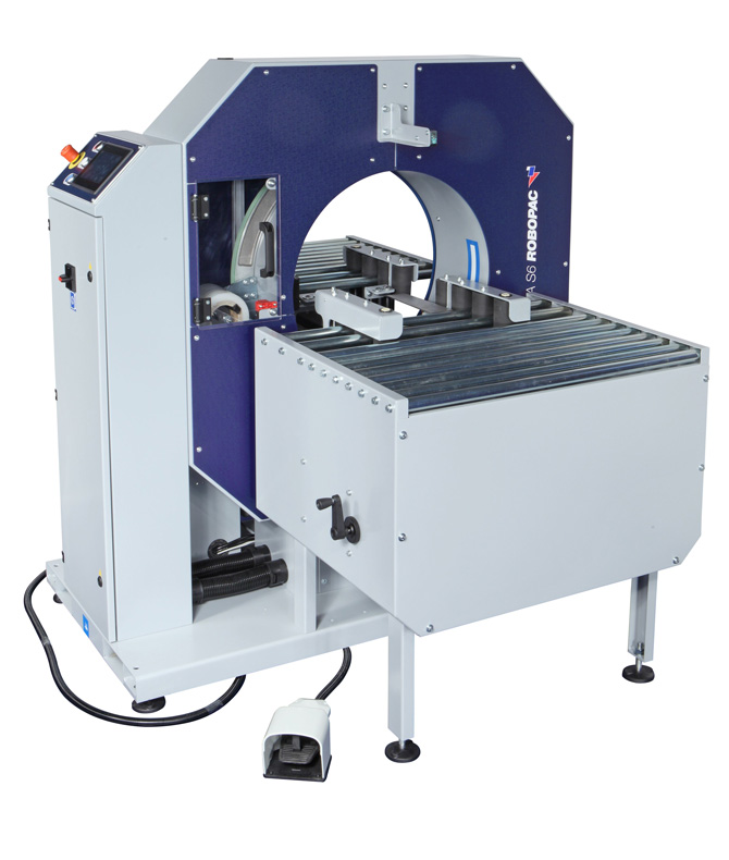 Compacta SPR horizontal semi-automatic stretch wrapper