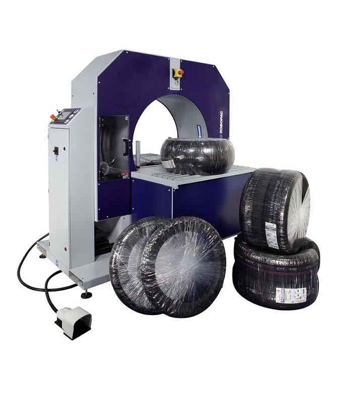 Compacta Tire Wrapper horizontal semi-automatic stretch wrapper