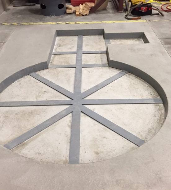 Pit install - frame in pit
