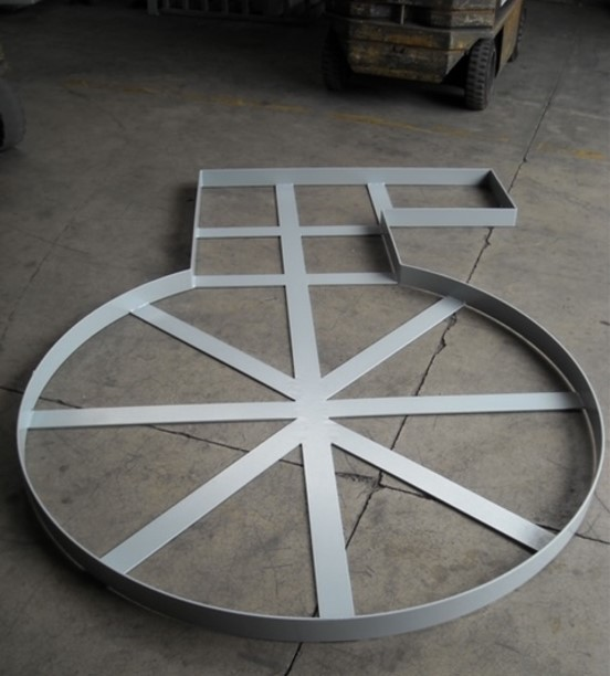 Pit install - metal frame