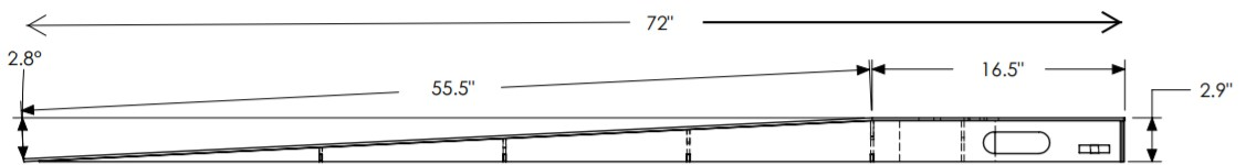 Ramp for 65 inch turntable