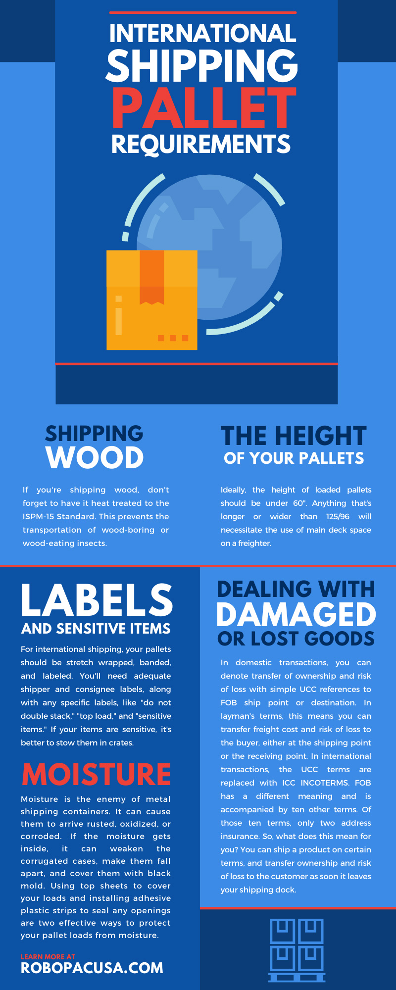 International Shipping Pallet Requirements