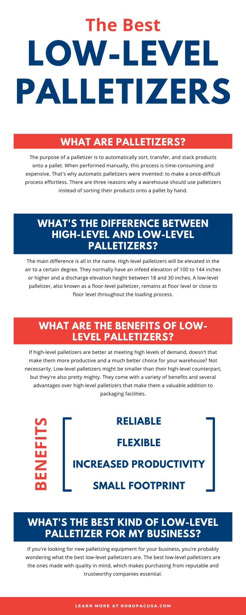 Low-Level Palletizers