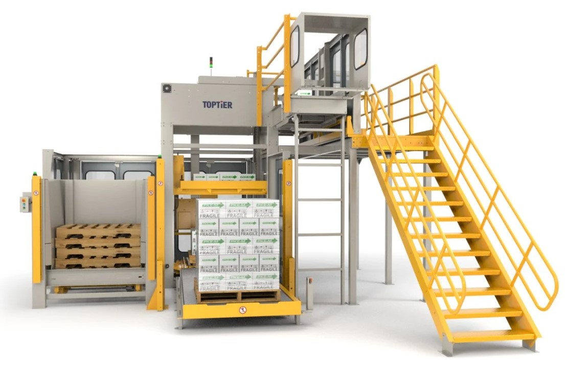 High infeed conventional palletizer